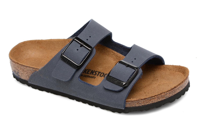 Sandals Birkenstock Arizona Birko-Flor Blue detailed view/ Pair view