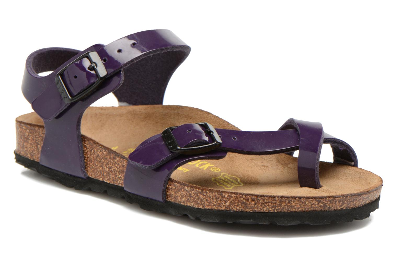 Sandals Birkenstock TAORMINA Purple detailed view/ Pair view