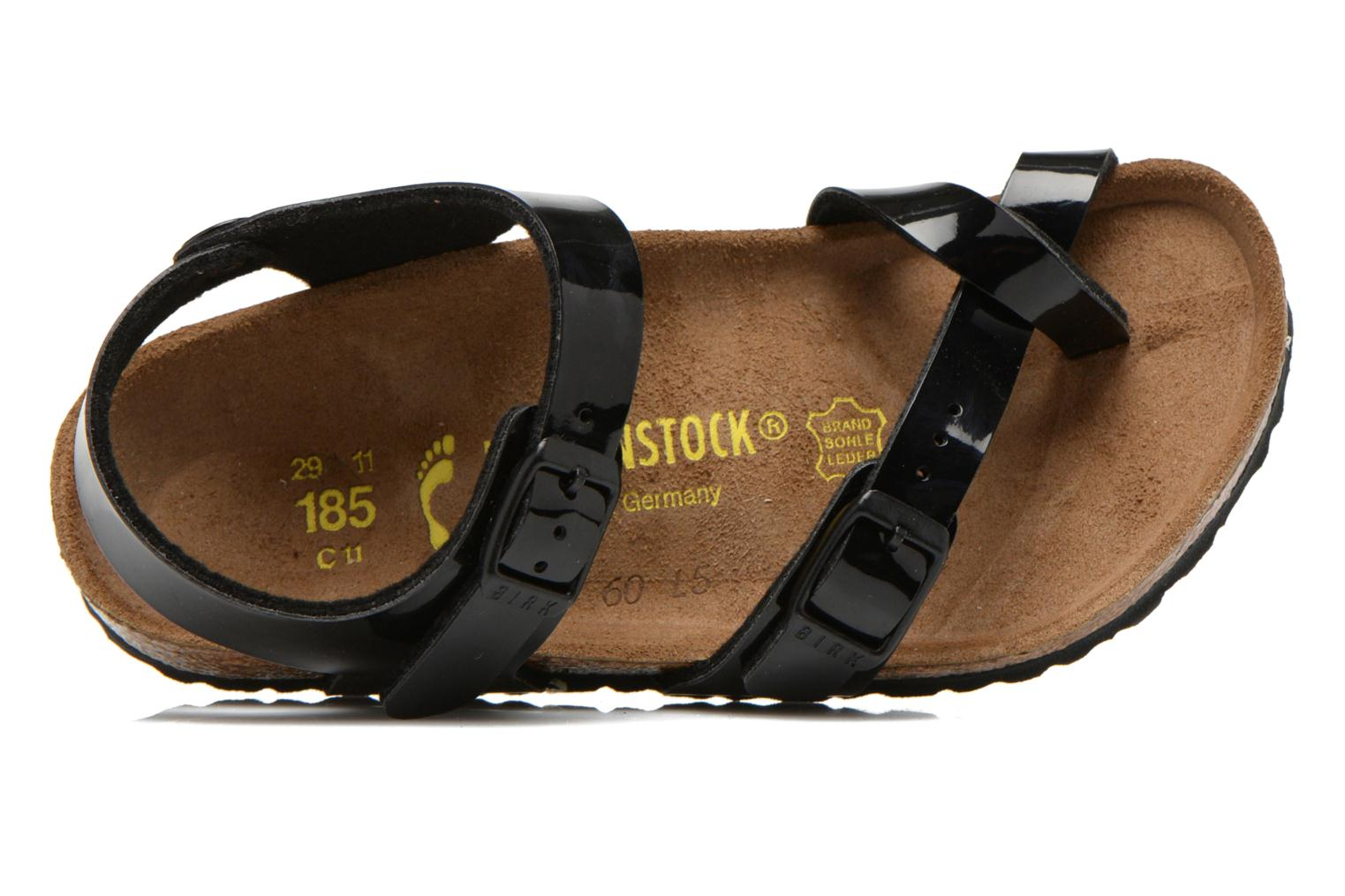 Sandals Birkenstock TAORMINA Black view from the left