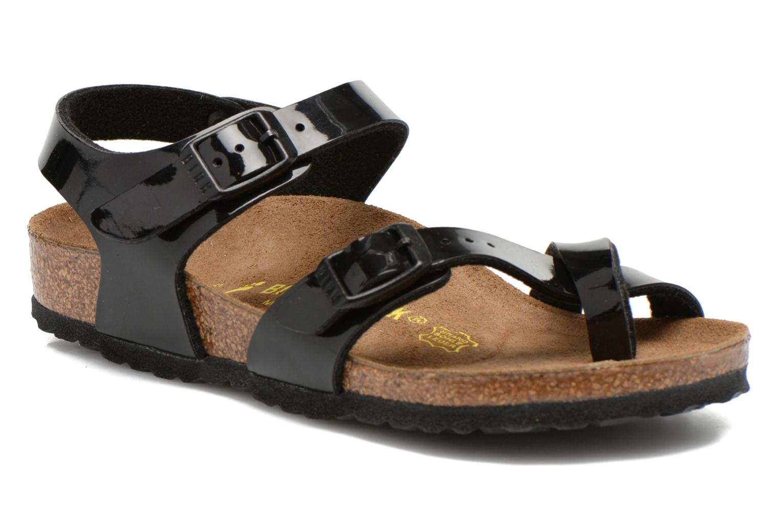 Sandals Birkenstock TAORMINA Black detailed view/ Pair view