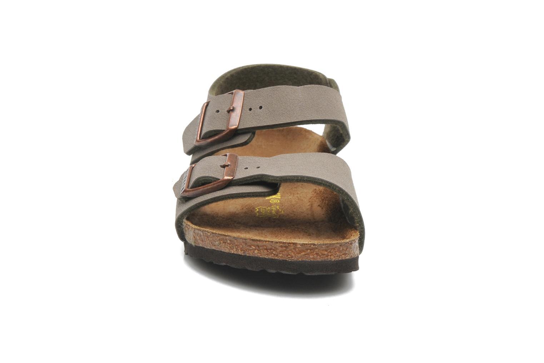 Sandalen Birkenstock NEW YORK grau schuhe getragen