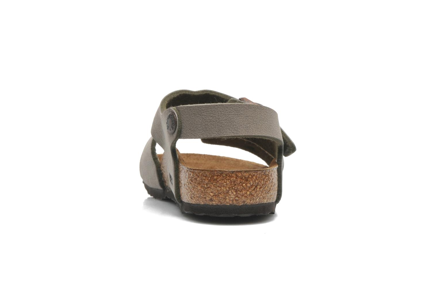 Sandals Birkenstock NEW YORK Grey view from the right