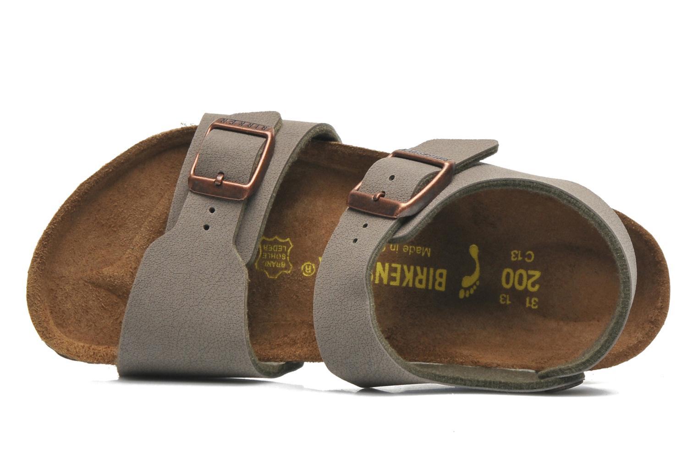 Sandales et nu-pieds Birkenstock NEW YORK Gris vue gauche