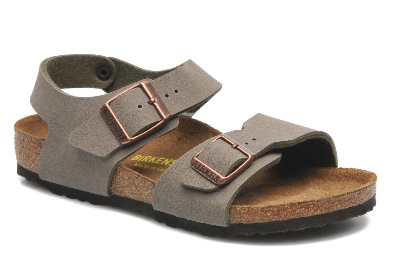 Sandales et nu-pieds Birkenstock NEW YORK Gris vue détail/paire