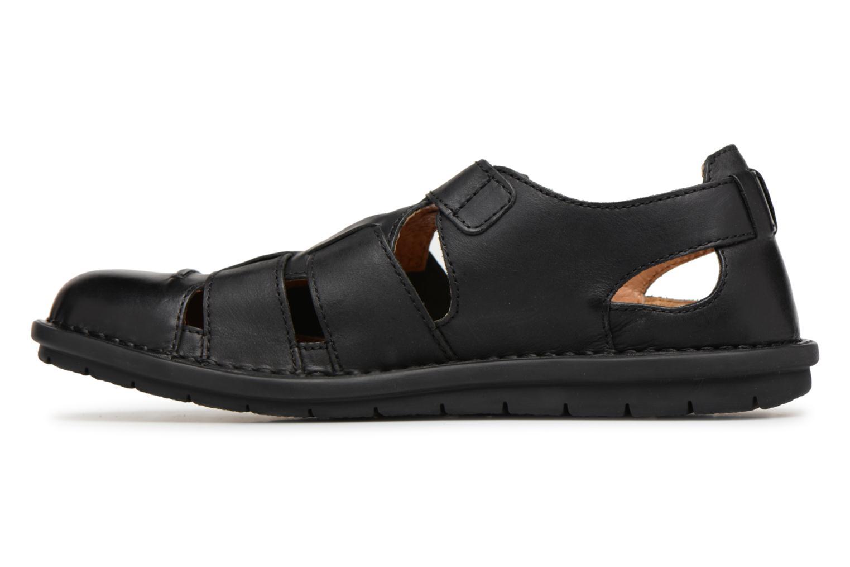 Sandalen Kickers Vidal schwarz ansicht von vorne