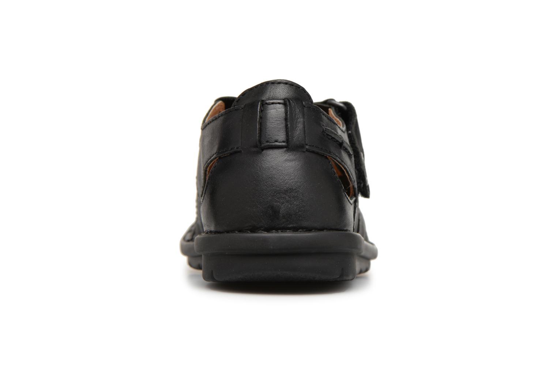 Sandales et nu-pieds Kickers Vidal Noir vue droite