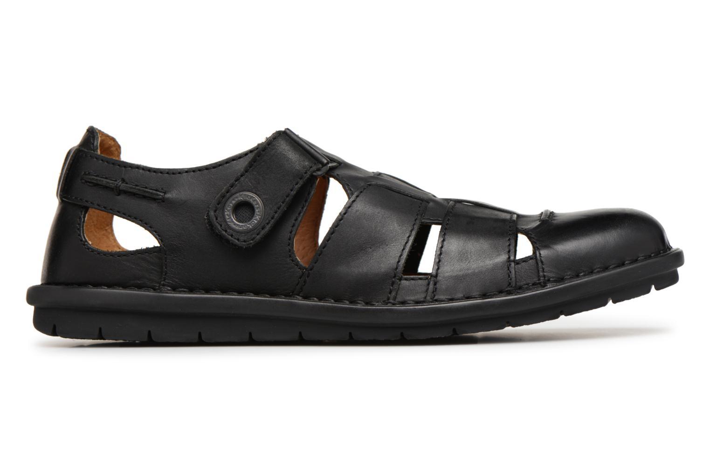 Sandales et nu-pieds Kickers Vidal Noir vue derrière