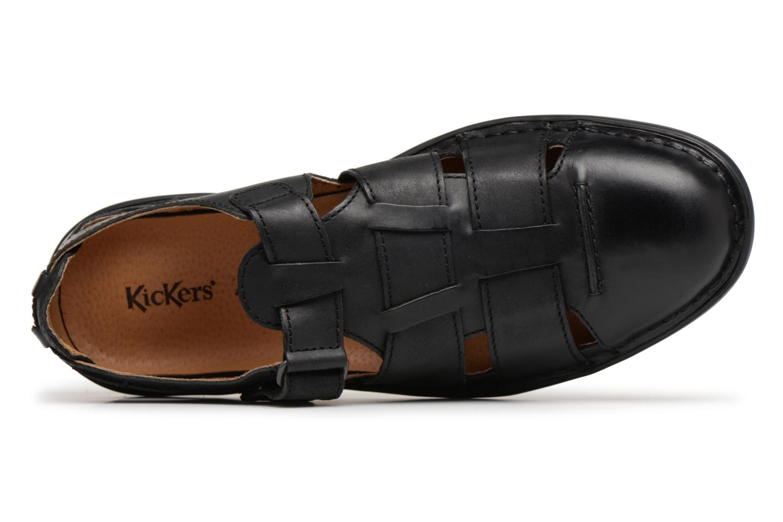 Sandales et nu-pieds Kickers Vidal Noir vue gauche