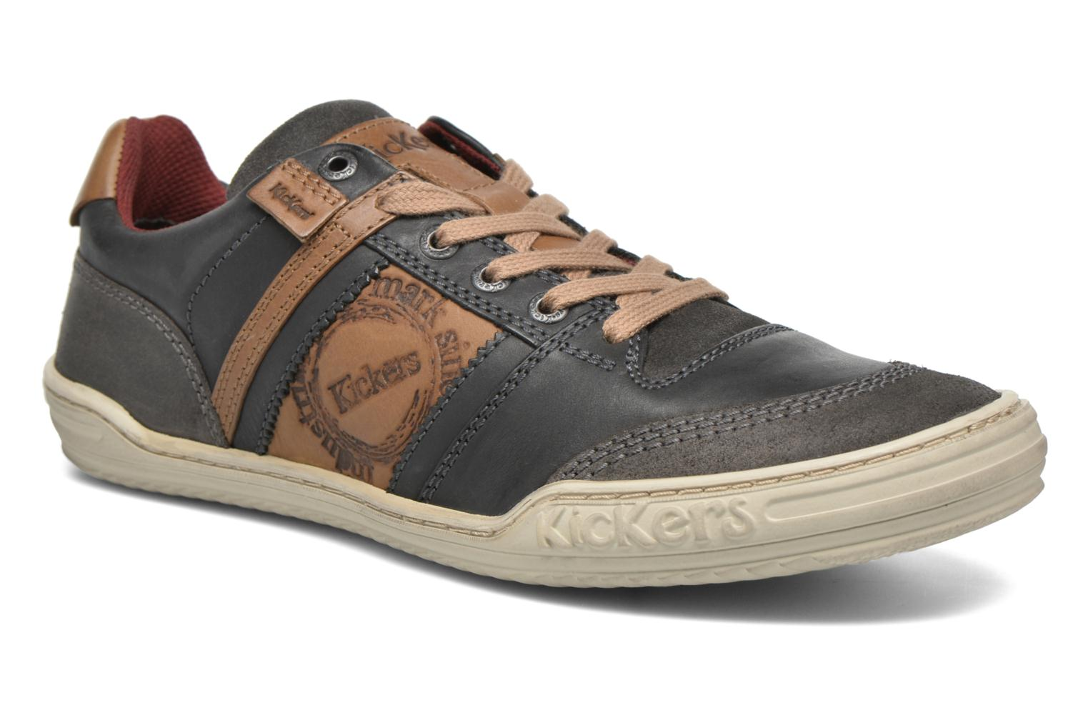 Baskets Kickers Jexplore Gris vue détail/paire