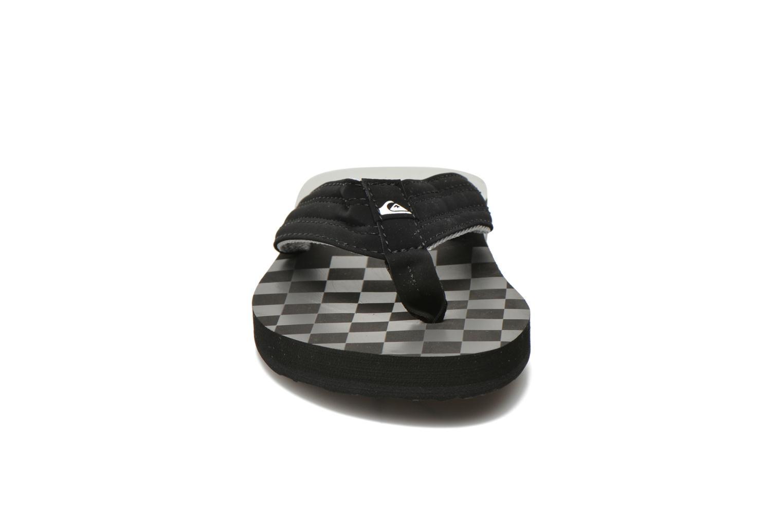 Tongs Quiksilver Basis Noir vue portées chaussures