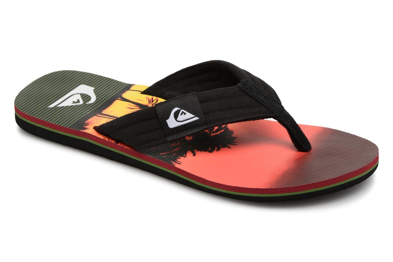 Flip flops Quiksilver Molokai layback Orange detailed view/ Pair view