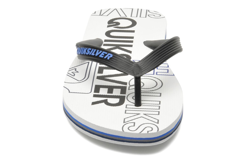 Flip flops Quiksilver Molokai nitro 3 White model view