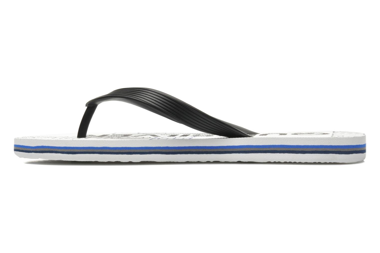 Flip flops Quiksilver Molokai nitro 3 White front view