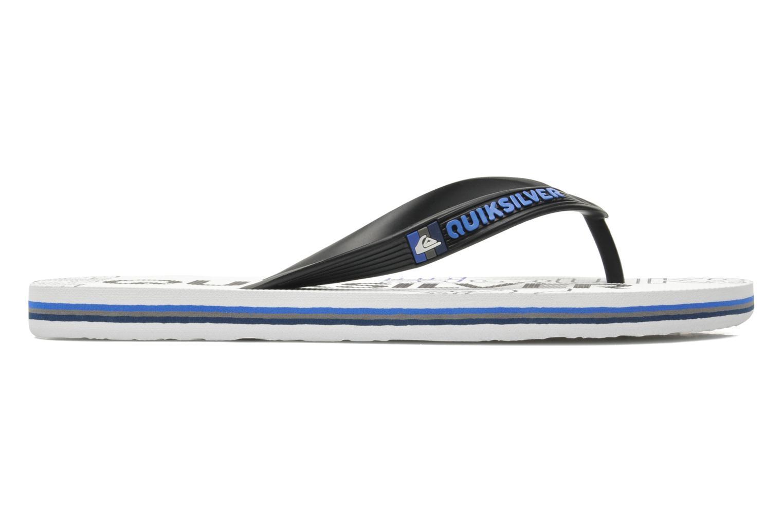 Flip flops Quiksilver Molokai nitro 3 White back view