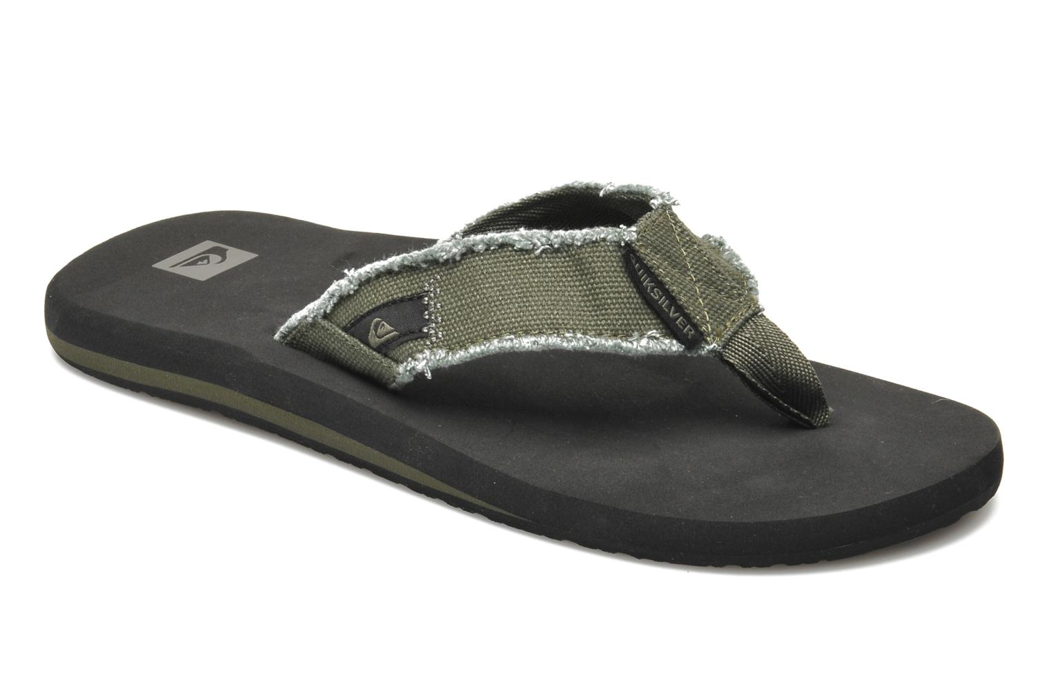 Flip flops Quiksilver Monkey Abyss Green detailed view/ Pair view