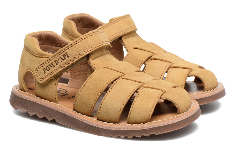 Sandali e scarpe aperte Pom d Api Waff Papy Giallo immagine 3/4