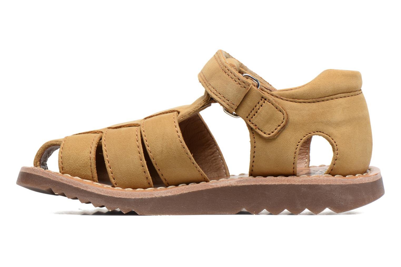 Sandales et nu-pieds Pom d Api Waff Papy Jaune vue face