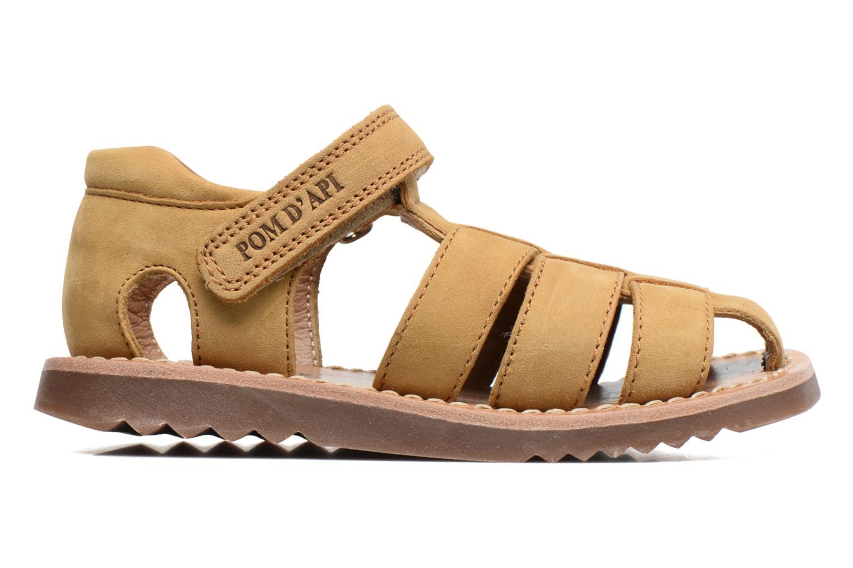 Sandali e scarpe aperte Pom d Api Waff Papy Giallo immagine posteriore