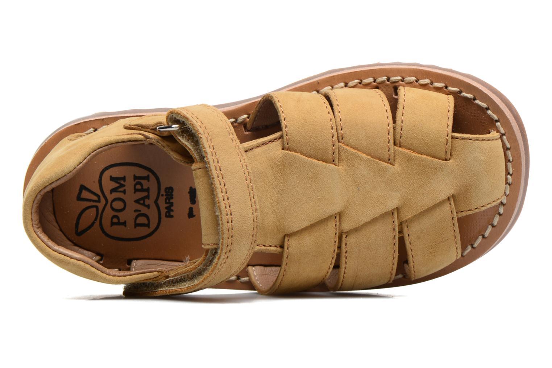 Sandali e scarpe aperte Pom d Api Waff Papy Giallo immagine sinistra