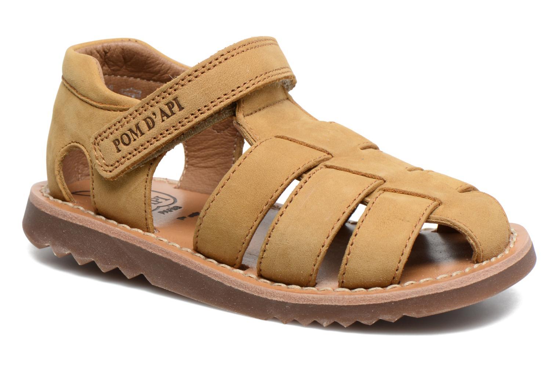 Sandales et nu-pieds Pom d Api Waff Papy Jaune vue détail/paire