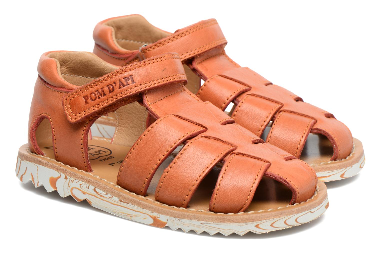 Sandales et nu-pieds Pom d Api Waff Papy Orange vue 3/4