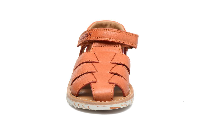 Sandales et nu-pieds Pom d Api Waff Papy Orange vue portées chaussures