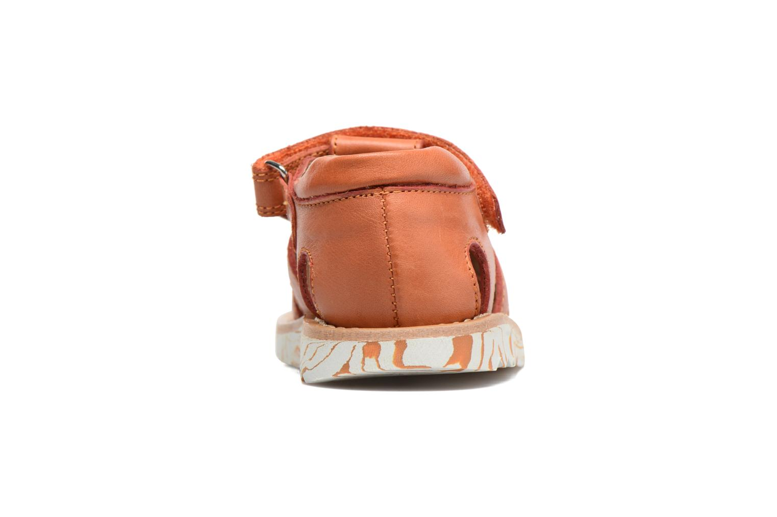 Sandals Pom d Api Waff Papy Orange view from the right