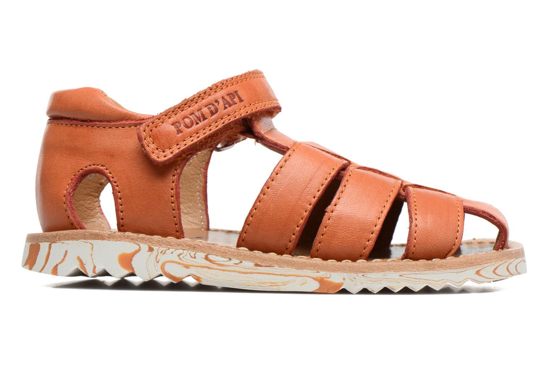 Sandales et nu-pieds Pom d Api Waff Papy Orange vue derrière