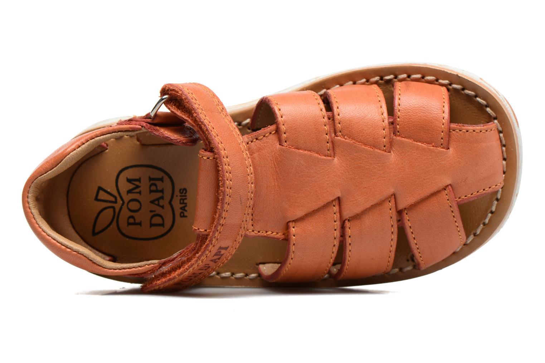 Sandali e scarpe aperte Pom d Api Waff Papy Arancione immagine sinistra
