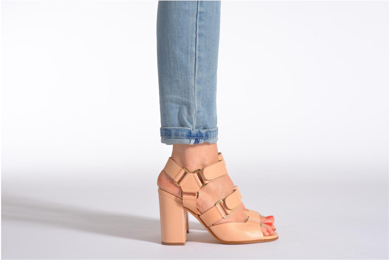 Sandales et nu-pieds Rebecca Balducci Sparta Gris vue bas / vue portée sac