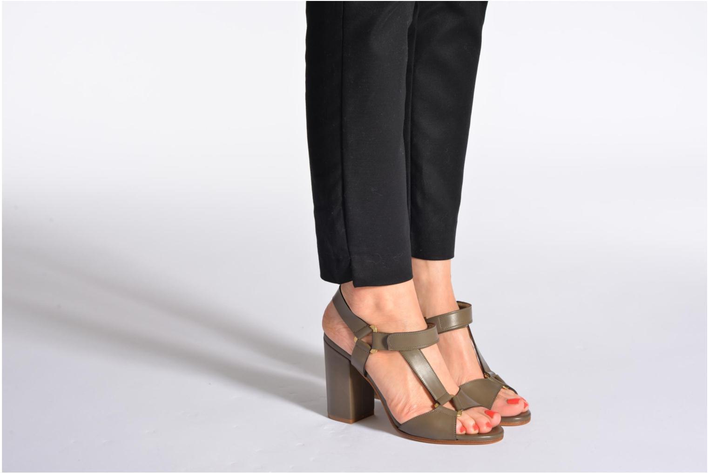 Sandales et nu-pieds Rebecca Balducci Silvia Vert vue bas / vue portée sac
