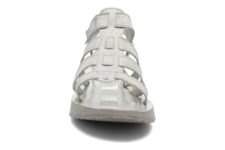 Sandales et nu-pieds Eleven paris Duse F Argent vue portées chaussures