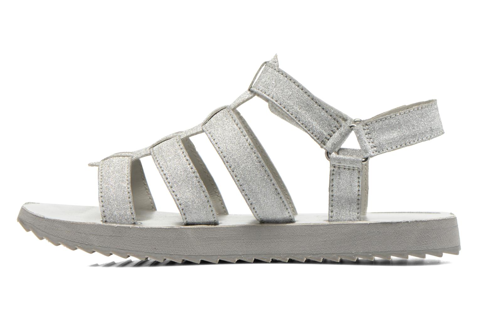 Sandals Eleven paris Duse F Silver front view