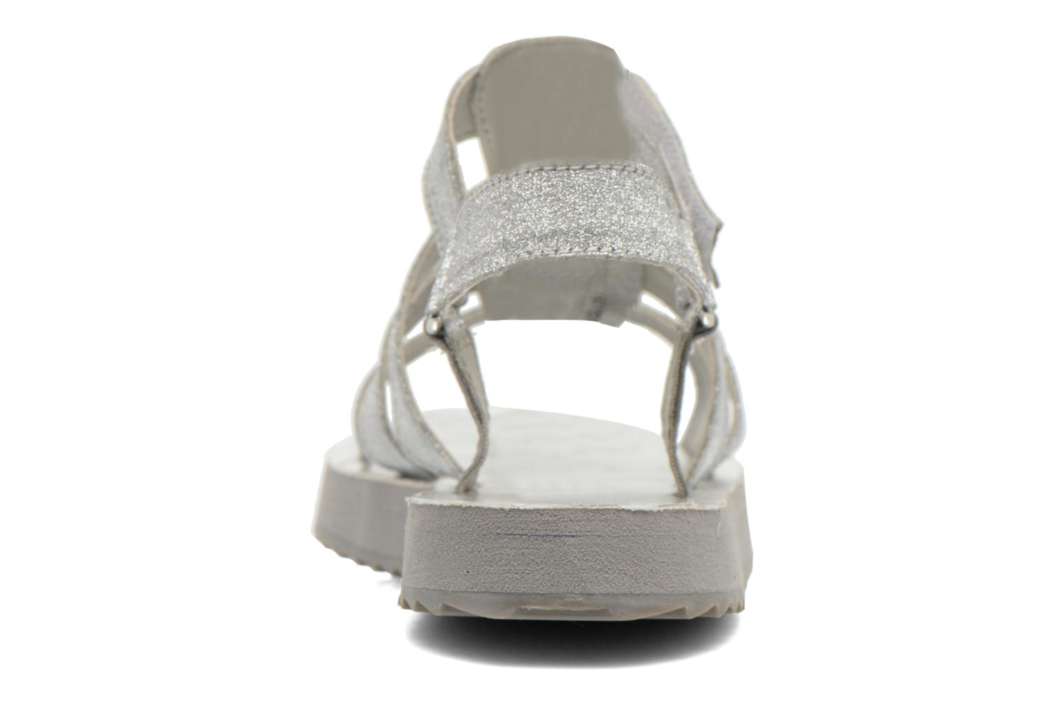 Sandals Eleven paris Duse F Silver view from the right