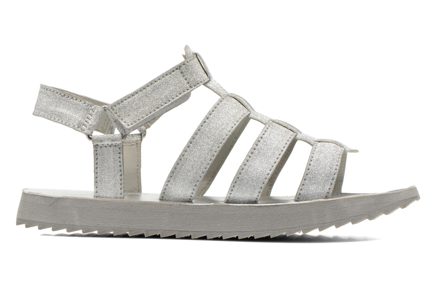 Sandals Eleven paris Duse F Silver back view