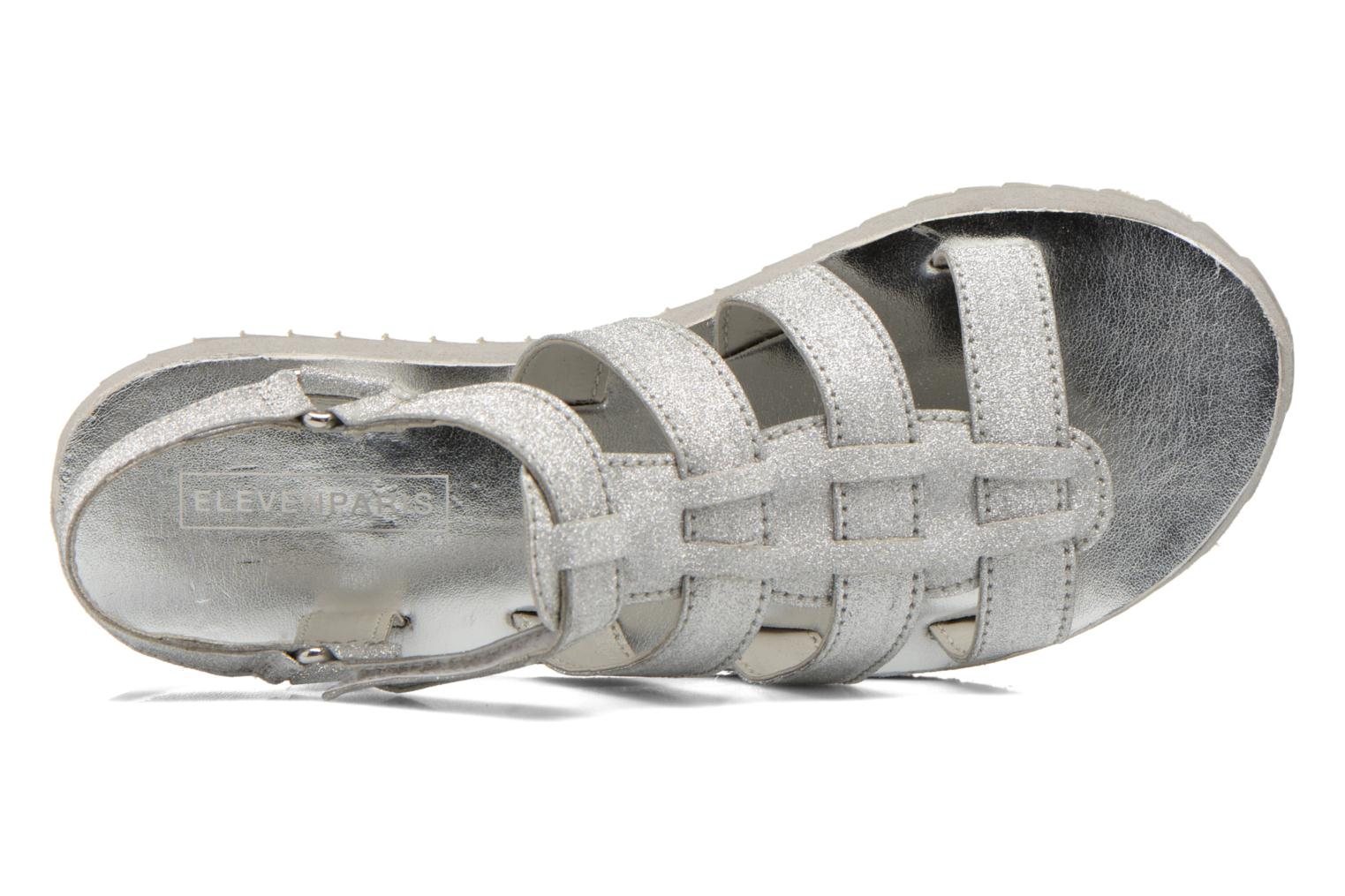 Sandals Eleven paris Duse F Silver view from the left