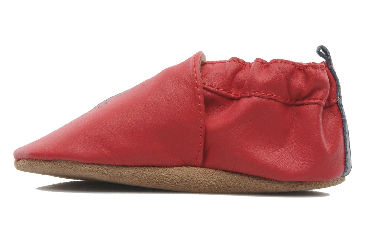 Chaussons Robeez Police Hero Rouge vue face