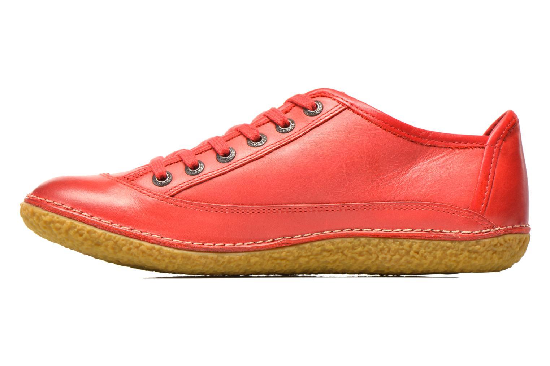 Snörade skor Kickers Hollyday Röd bild från framsidan
