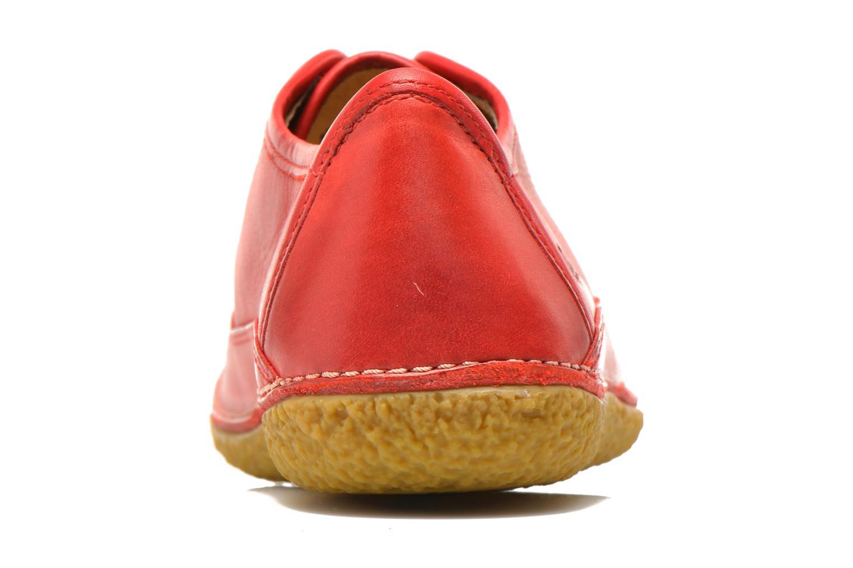 Snörade skor Kickers Hollyday Röd Bild från höger sidan