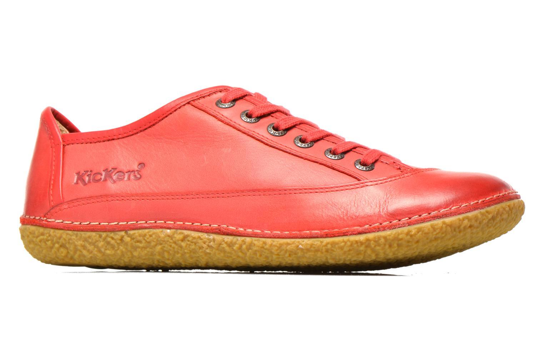 Snörade skor Kickers Hollyday Röd bild från baksidan