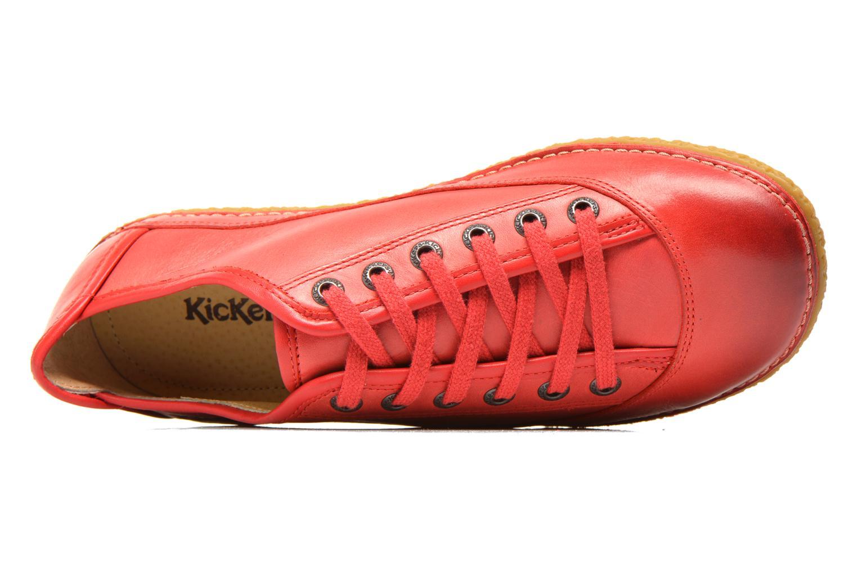 Snörade skor Kickers Hollyday Röd bild från vänster sidan