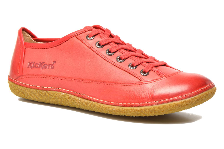 Snörade skor Kickers Hollyday Röd detaljerad bild på paret