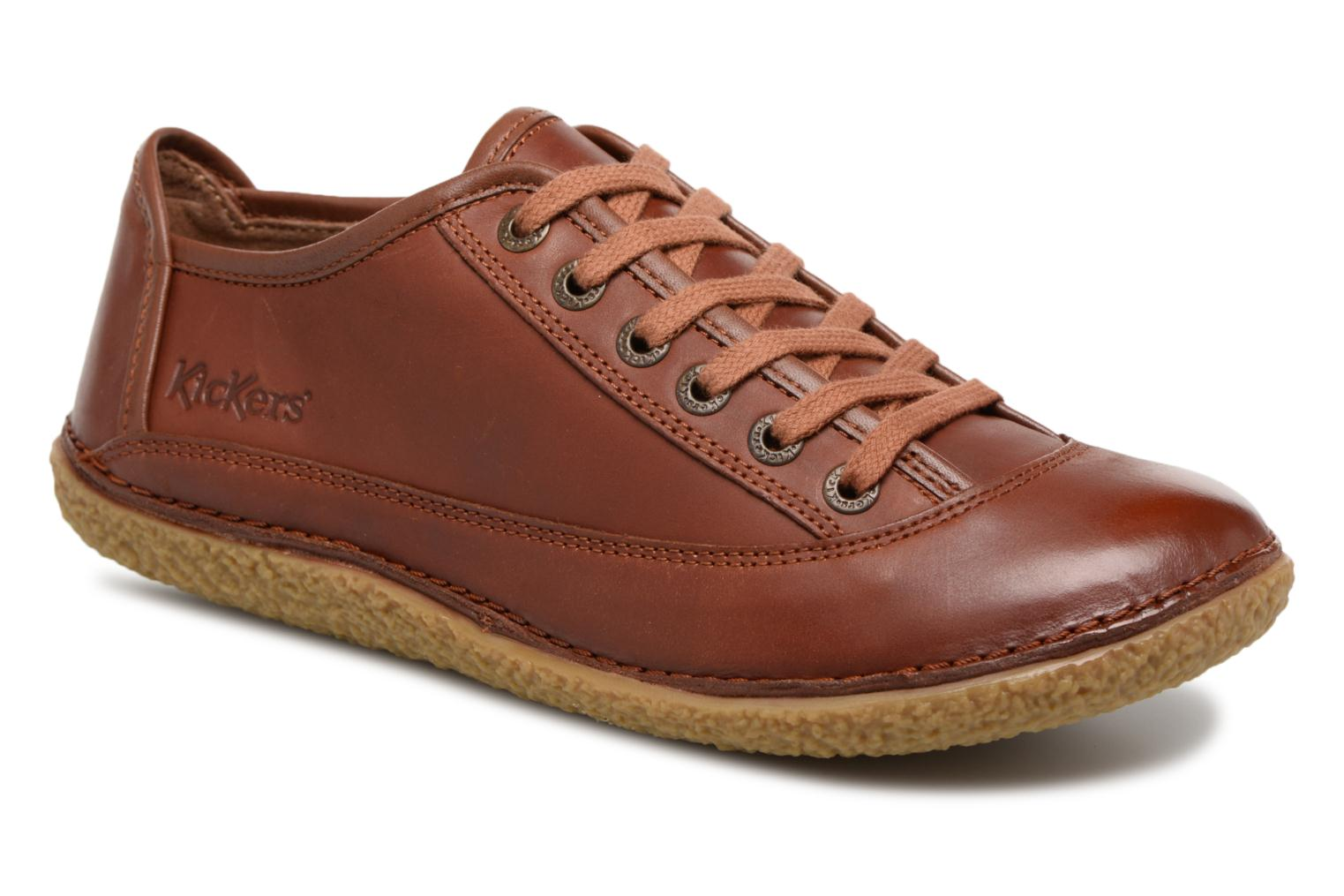 Veterschoenen Kickers Hollyday Bruin detail