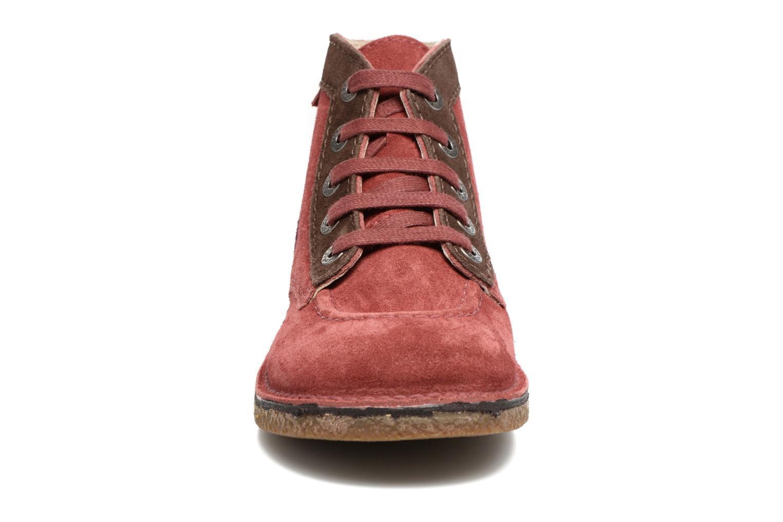 Chaussures à lacets Kickers Legendoknew Bordeaux vue portées chaussures