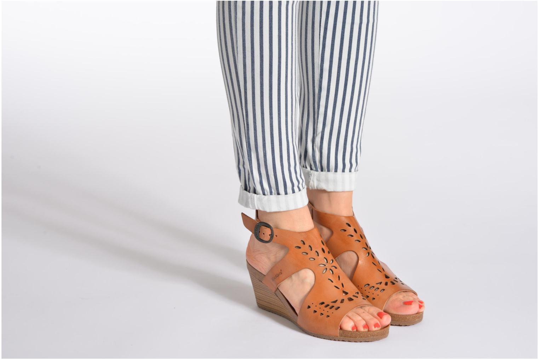 Sandales et nu-pieds Kickers Sperfo Noir vue bas / vue portée sac