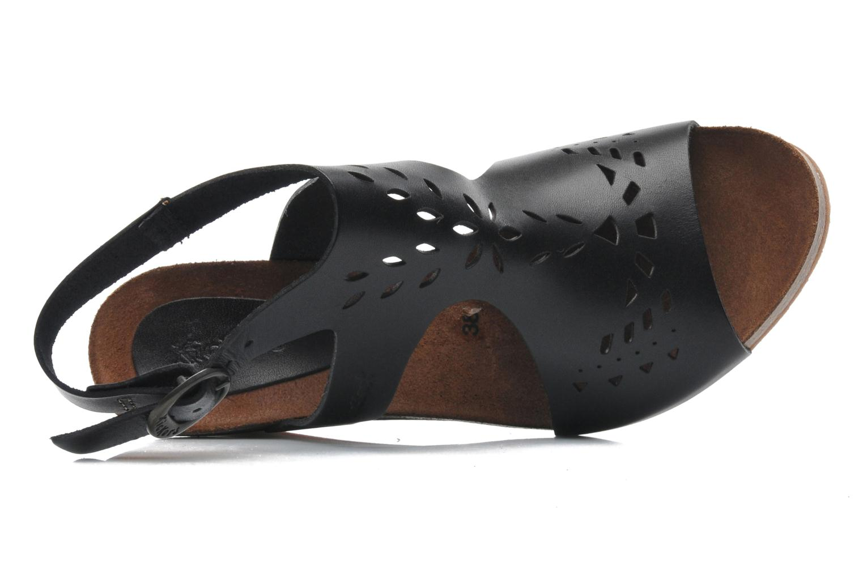 Sandales et nu-pieds Kickers Sperfo Noir vue gauche