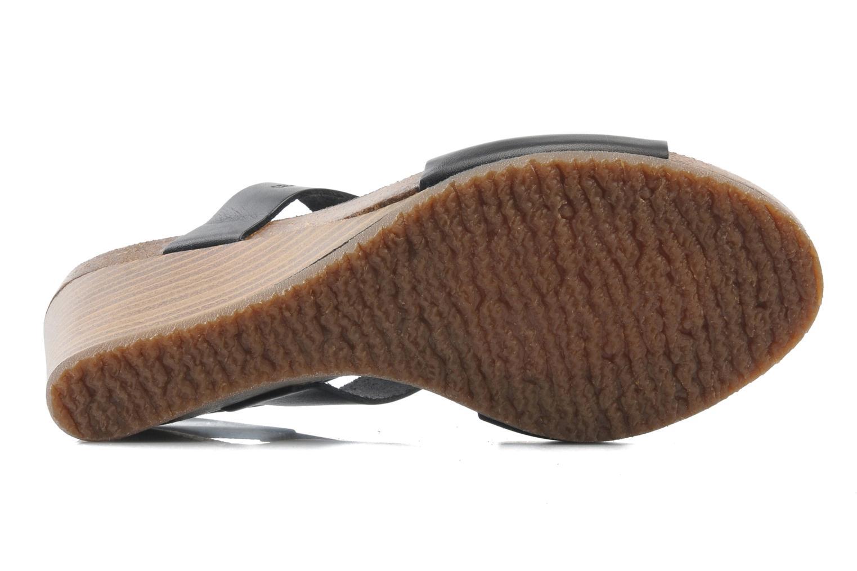 Sandales et nu-pieds Kickers Sperfo Noir vue haut