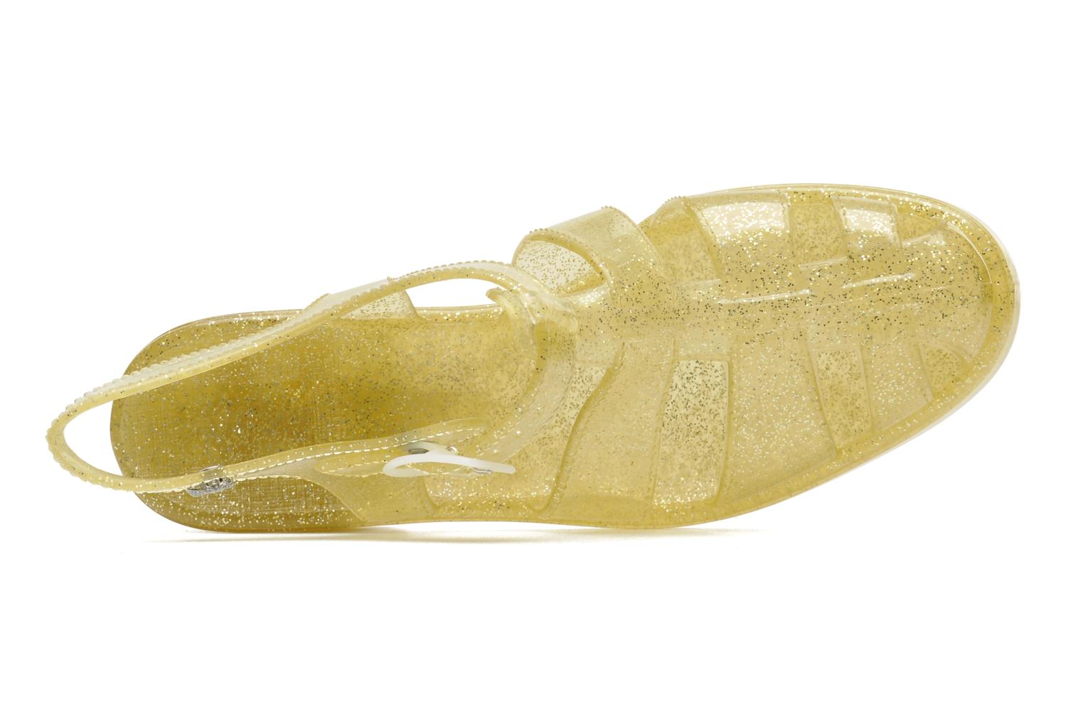 Sandals Méduse Nikita Bronze and Gold view from the left