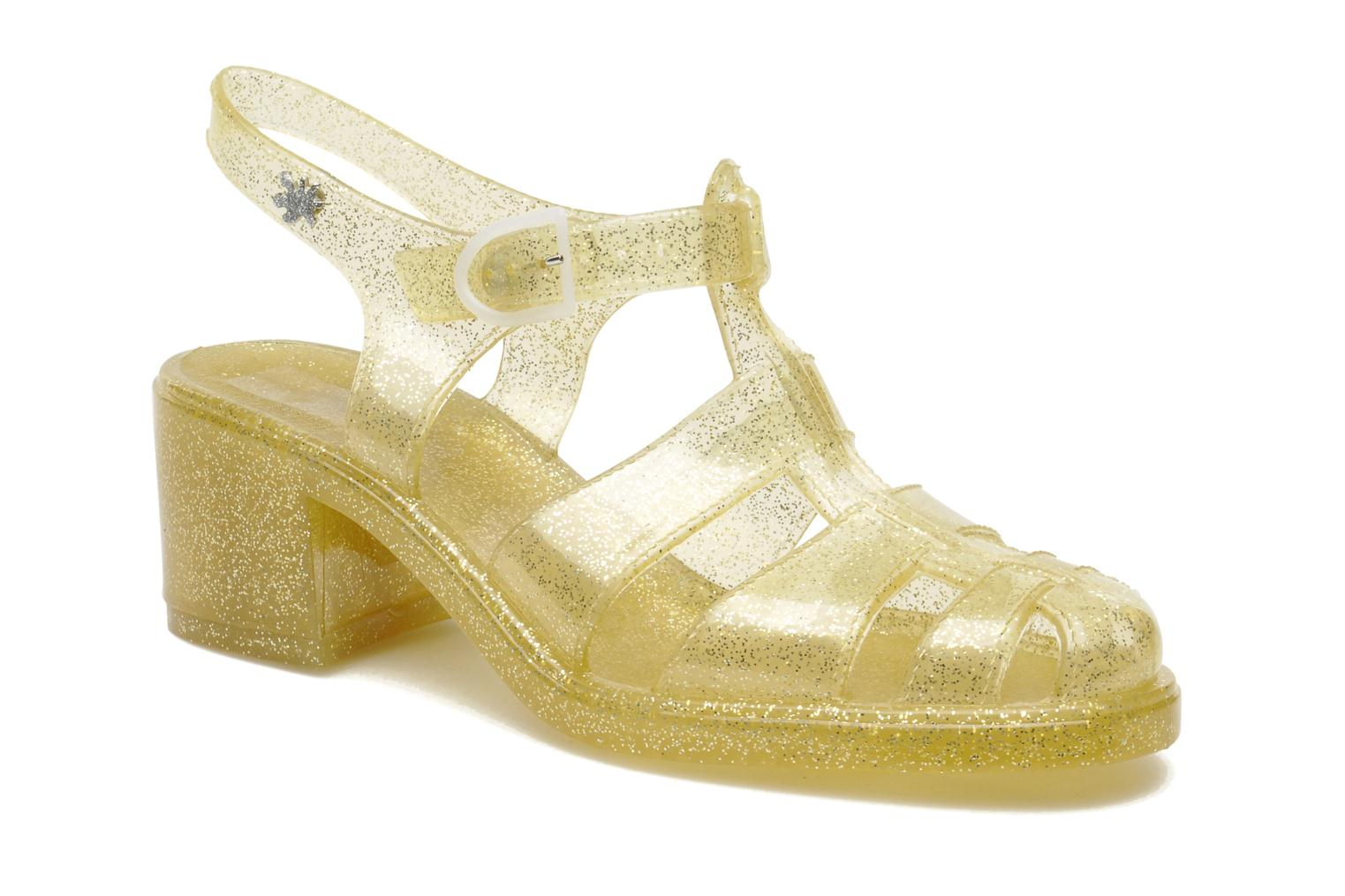 Sandals Méduse Nikita Bronze and Gold detailed view/ Pair view