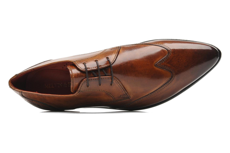 Zapatos con cordones Melvin & Hamilton Toni 2 Marrón vista lateral izquierda